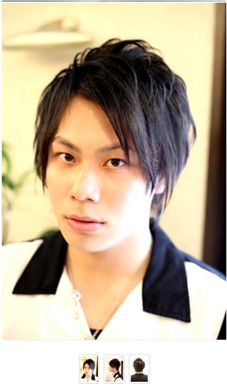 アシメバングがクールなミディアムレイヤースタイルアウトラインは長めに残し、黒髪で重く見える印象はトップを短く切りこむことによってカバー。スライドカットで束感を出しやすくし、フロントはナナメに切って流しやすくしています。モデル:田中 杏太郎スタイリスト:椙山 亮